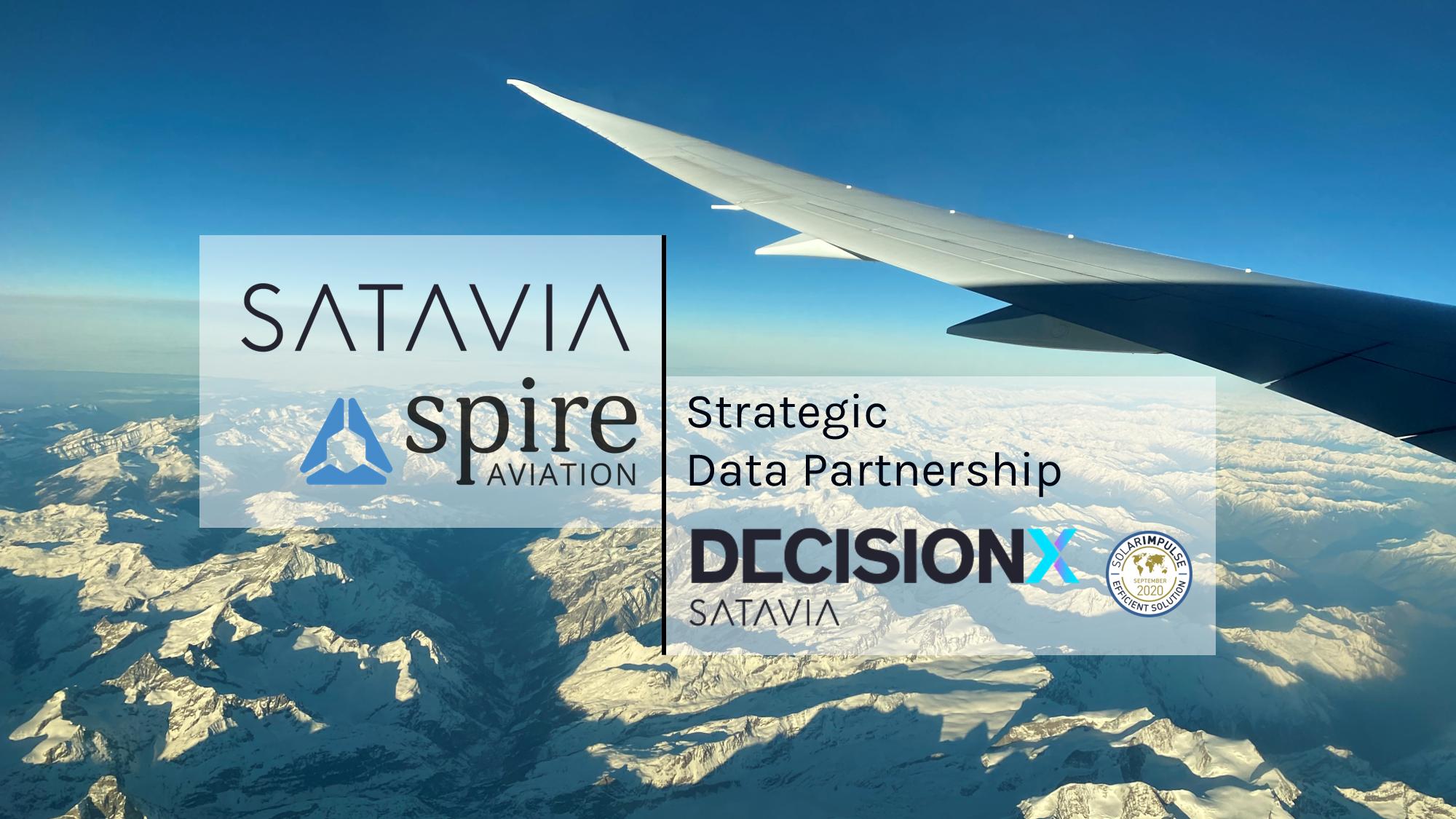 Spire Aviation and SATAVIA's Strategic Data Partnership